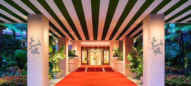 Beverly Hills Hotel - Red Carpet Entrance