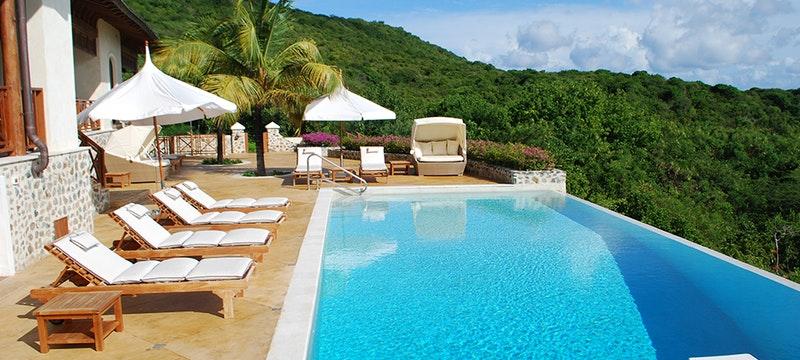 Pool Area at Big Blue Ocean, Canouan