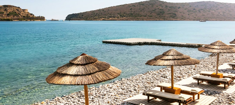 Private Beach at Blue Palace
