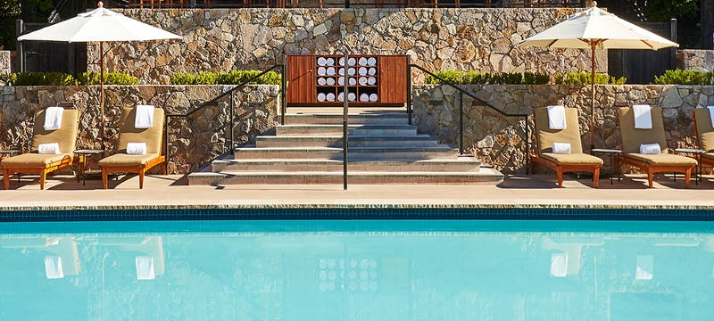 Pool Area at Calistoga Ranch