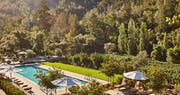 Pool and View at Calistoga Ranch