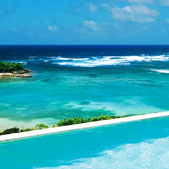 Pool and Beach View at Canouan Estate