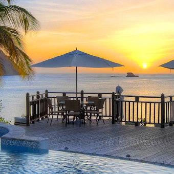 Ocean and pool view at Cap Maison, St Lucia