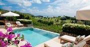 Pool area at Carenage Villa, Canouan