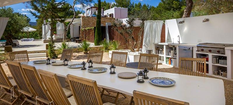 Outdoor Dining at Casa Del Jondal, Ibiza, Spain