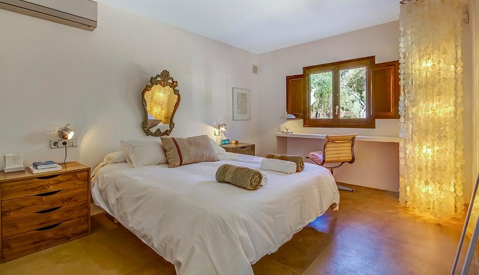 Bedroom At Casa Del Jondal, Ibiza, Spain