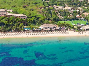 Aerial View of Forte Village Resort, South Sardinia, Italy