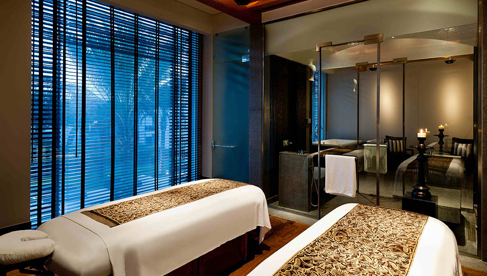 Spa treatment room at The Chedi Muscat, Oman
