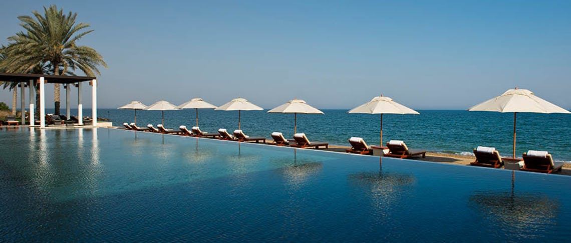 Swimming pool at The Chedi Muscat, Oman