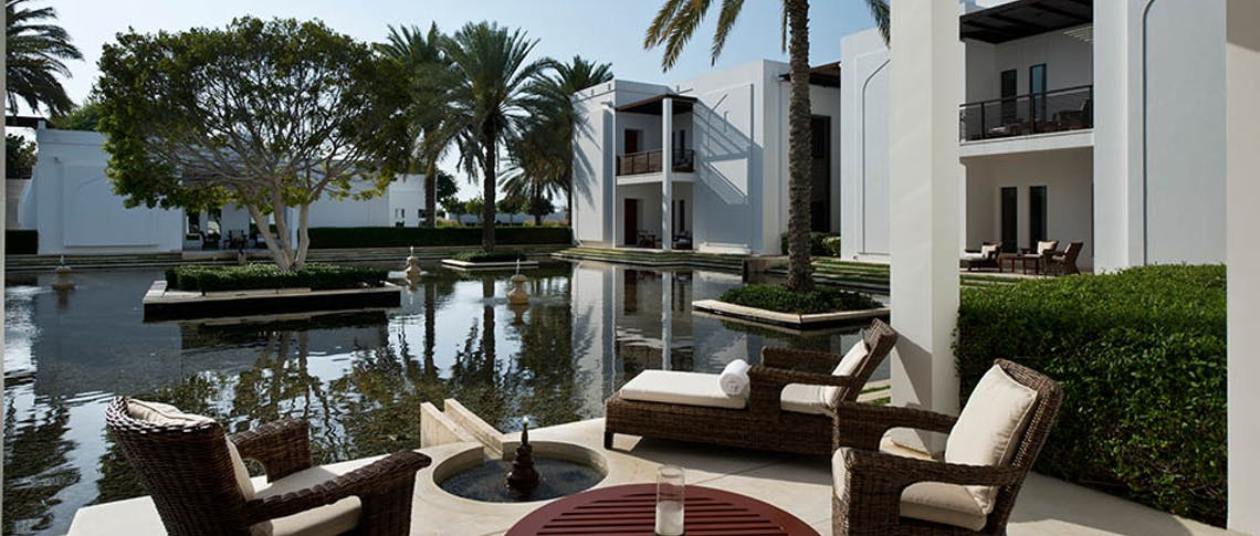 Private terrace at The Chedi Muscat, Oman