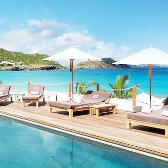 Pool Area and Beach View at Cheval Blanc St Barth Isle de France