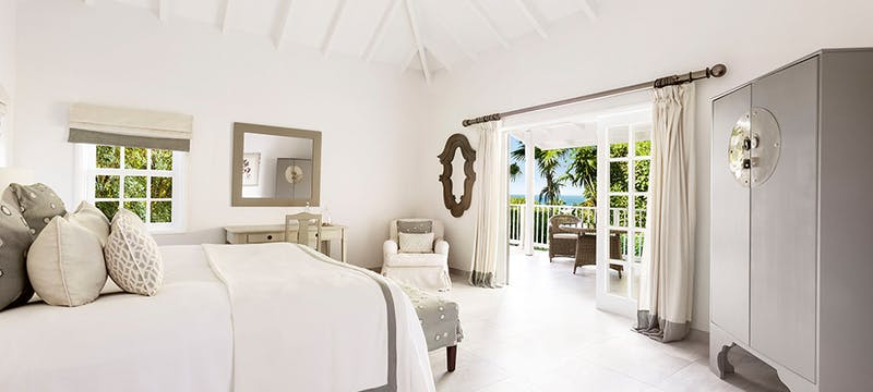Hillside Bungalow Bedroom at Cheval Blanc St Barth Isle de France