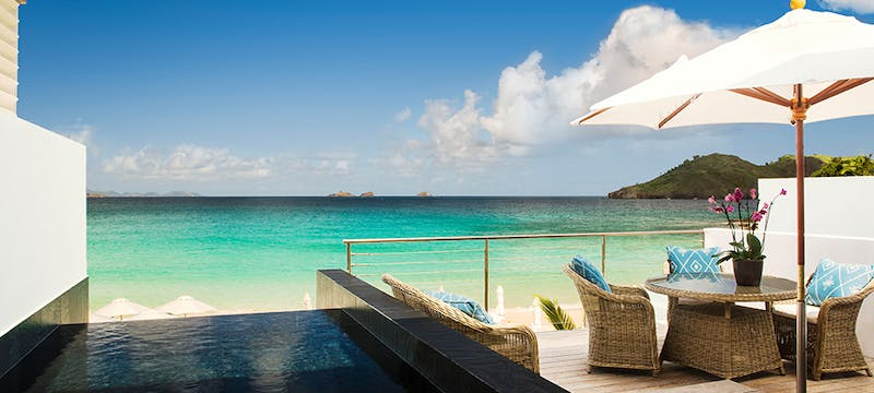 Flamands Villa Terrace at Cheval Blanc St Barth Isle de France