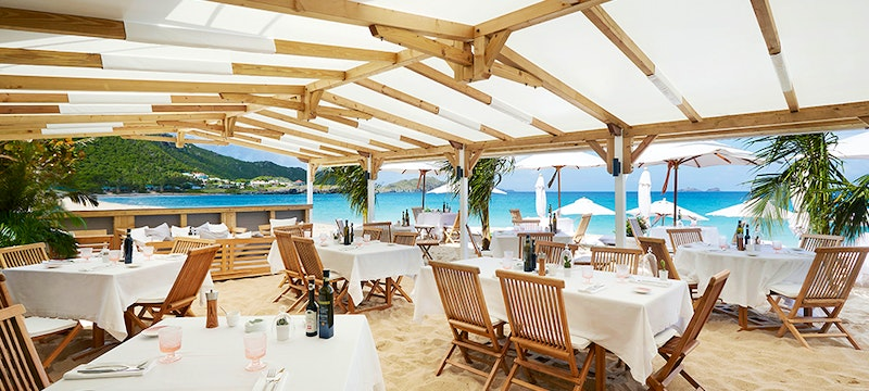 Dining at Cheval Blanc St Barth Isle de France