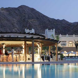 Bar and Pool at Shangri La Barr Al Jissah Resort and Spa