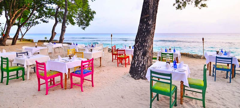 Beach restaurant at The Club Barbados Resort & Spa, Barbados
