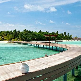 Beach at constance Moofushi Maldives