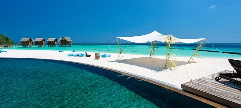 Pool Area at Constance Moofushi, Maldives