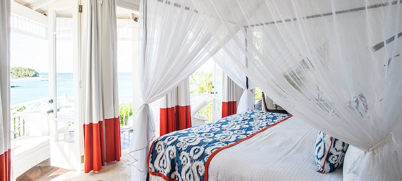 Bedroom at Cotton House, St Vincent & The Grenadines