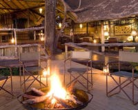 Camp fire at Duba Plains Camp, Bostwana