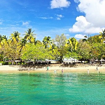 Beach at East Winds, St Lucia