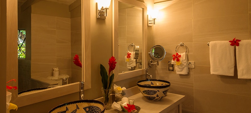 Deluxe Bathroom at East Winds, St Lucia