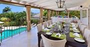 Dining Area at Eden Villa, Sugar Hill Barbados