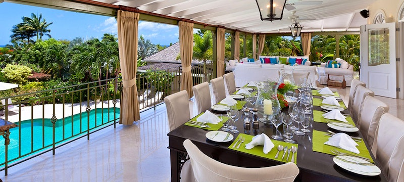 Dining Area at Eden Villa, Sugar Hill Barbados