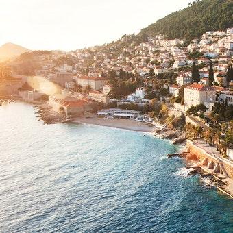Beach at Hotel Excelsior, Dubrovnik