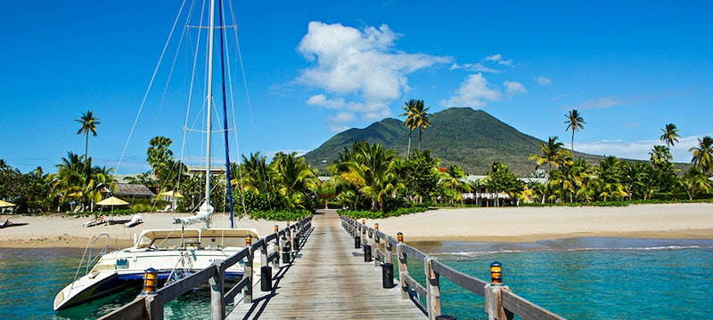 Entrance after Speedboat Transfer at Four Seasons Nevis