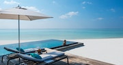 Pool Area at Four Seasons Private Island Maldives at Voavah