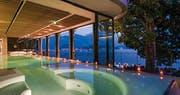 Indoor swimming pool at Grand Hotel Tremezzo, Lake Como