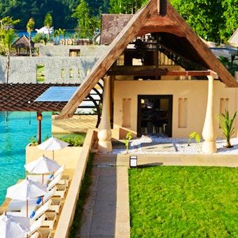 Overview of Resort at Gaya Island Resort