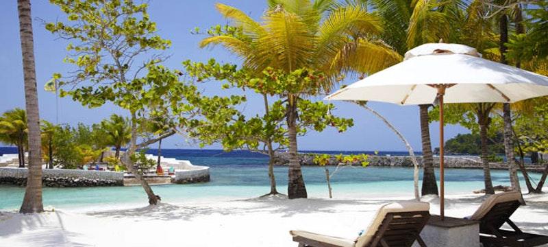 Relax along the beach at GoldenEye, Jamaica