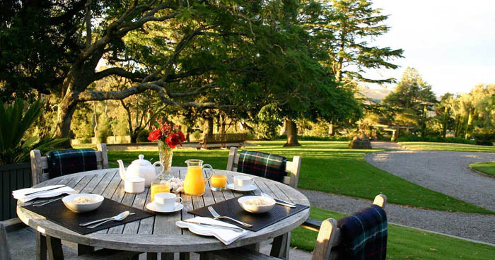 Dining area at Greenhill Lodge, New Zealand