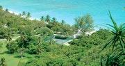 Tennis courts at Guana Island, British Virgin Islands