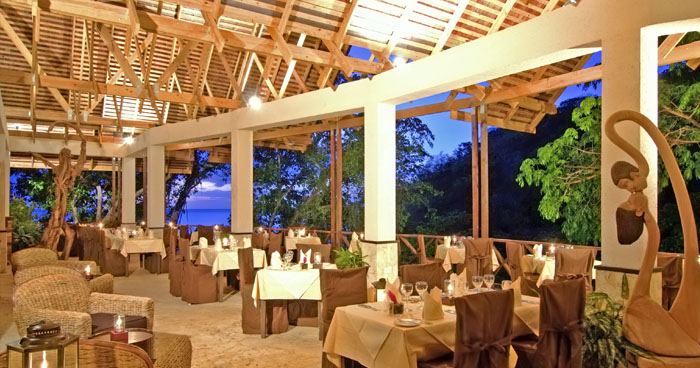 Restaurant at Anse Chastanet, St Lucia