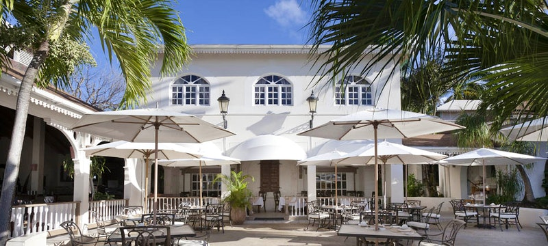 Dine at a resort restaurant at Blue Waters, Antigua