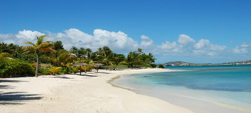 Beautiful beaches at Jumby Bay Estate Homes, Antigua