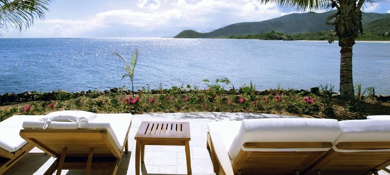 Relax and enjoy the beautiful views at Curtain Bluff, Antigua