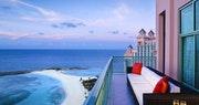 Penthouse balcony overlooking the ocean at Atlantis, Bahamas