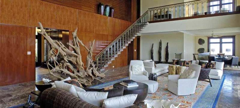 Living room area at Peter Island Villa Estates, British Virgin Islands
