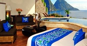 Moon Sanctuary Room with infinity pool at Jade Mountain, St Lucia