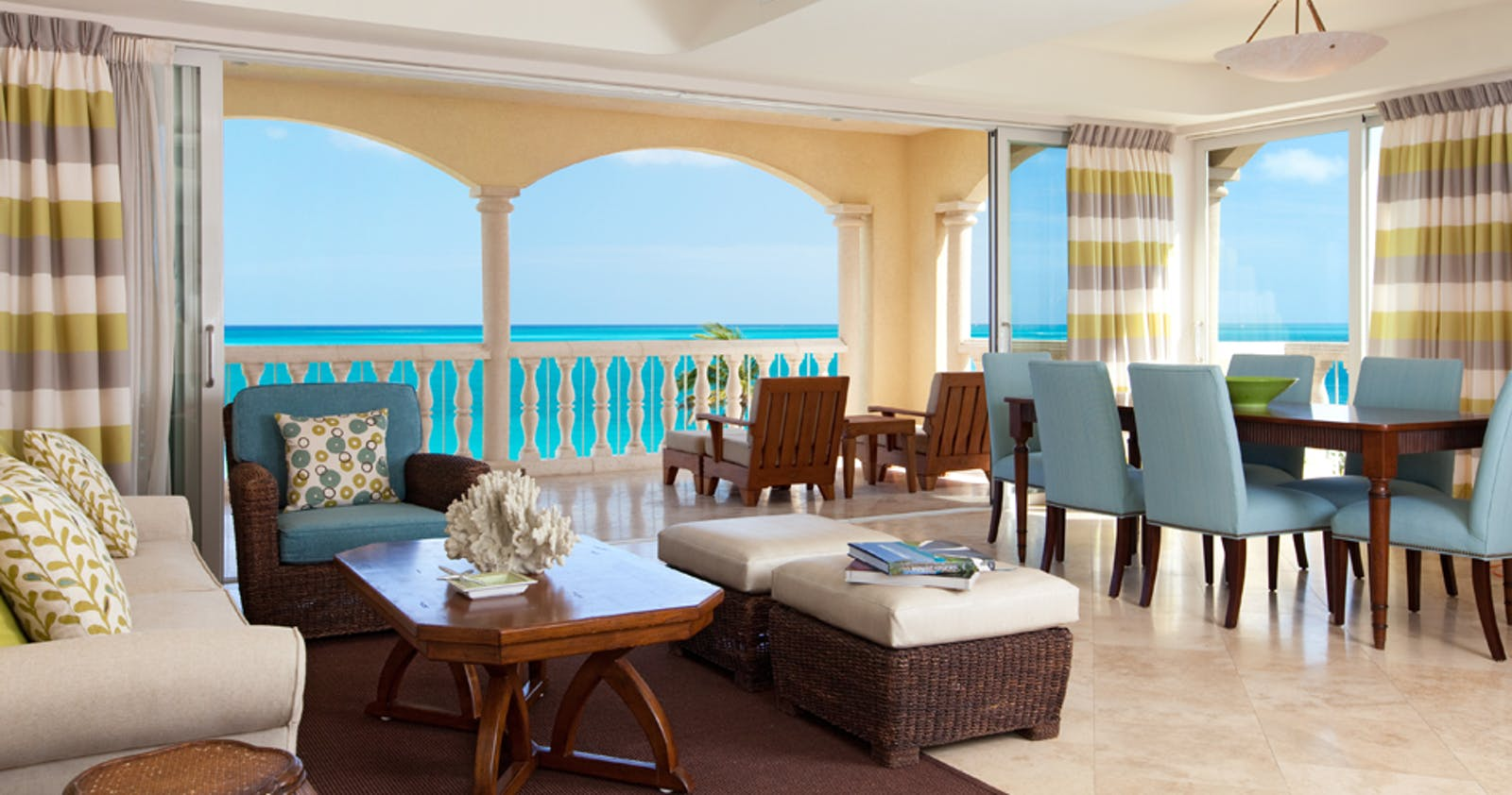 Living Room At Grace Bay Club, Turks And Caicos