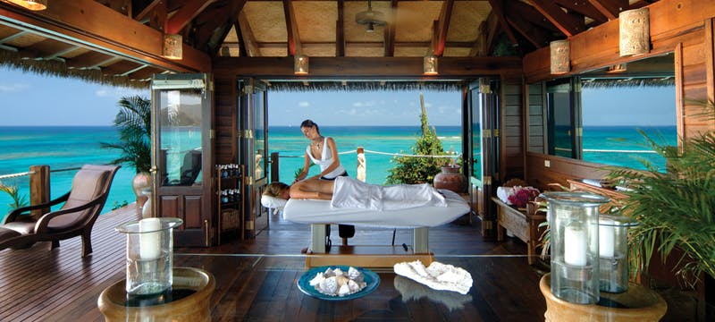 Unwind in the spa at Necker Island, British Virgin Islands