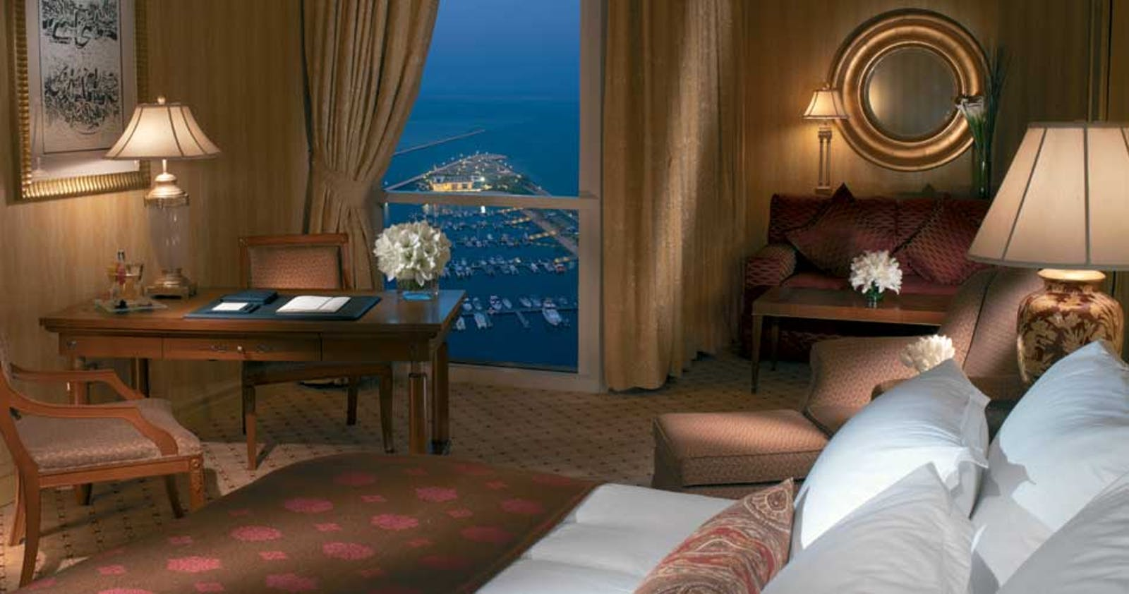 Bedroom at The Ritz-Carlton Doha