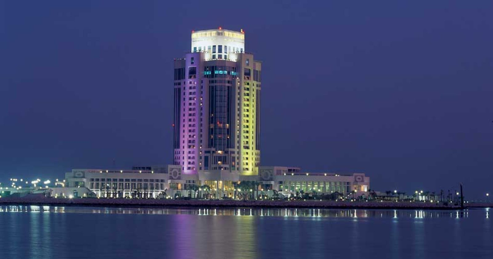 Evening Landscape View at The Ritz-Carlton Doha