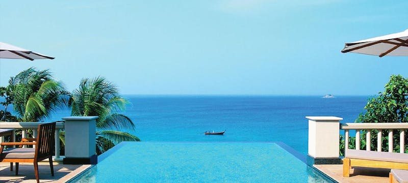 Pool with Sea View at Trisara, Phuket