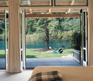Bedroom at Huka Lodge Lake Taupo