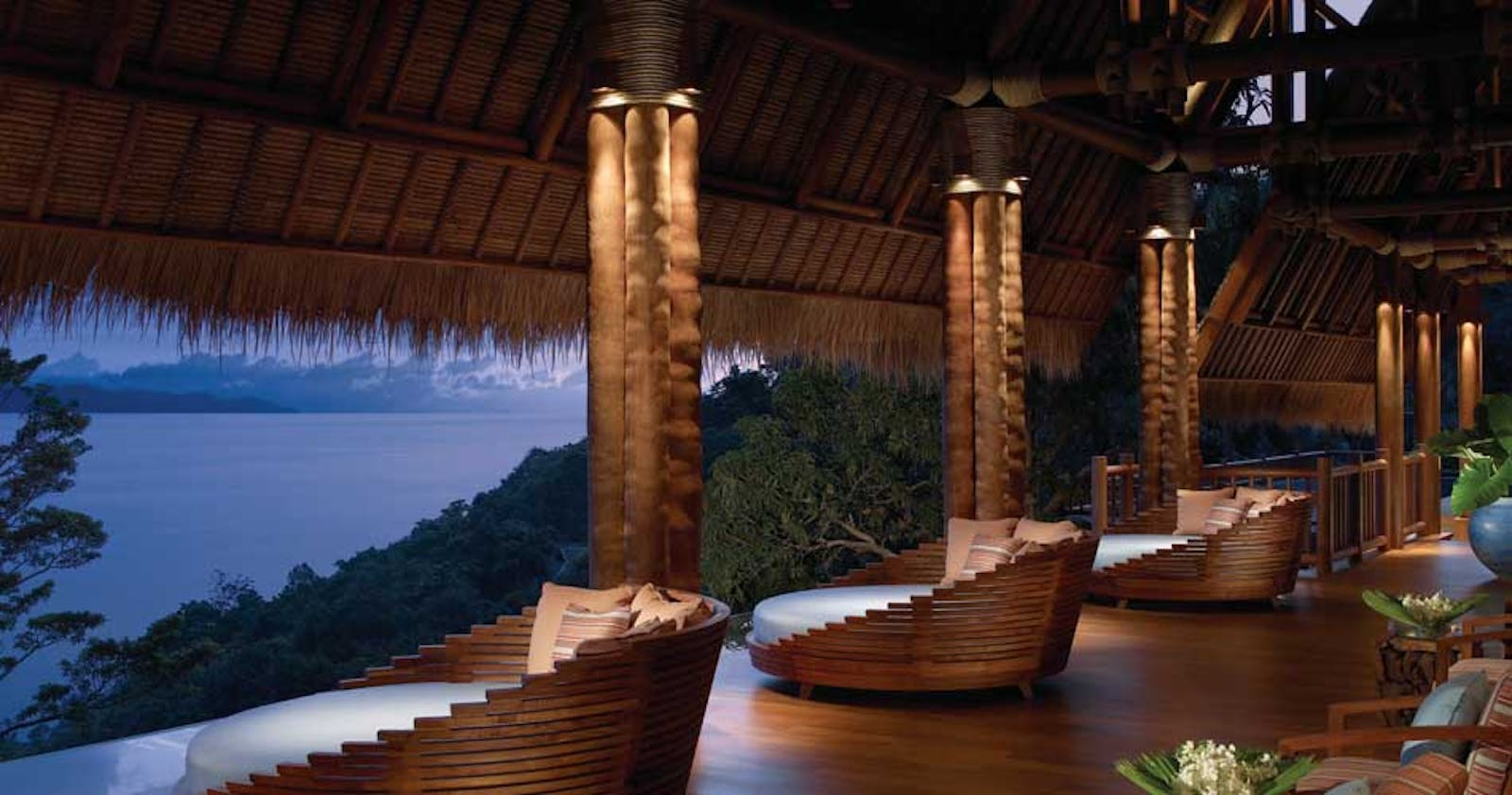 Terrace area at The Estates at Four Seasons Resort Samui
